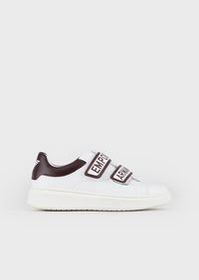 Armani Leather sneakers with logoed Velcro