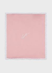 Armani Reversible blanket with embroidered logo