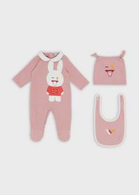 Armani Gift set with baby suit, bib and beret