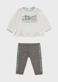 Armani Sweater-and-leggings outfit with animals