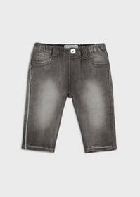 Armani Stone-washed denim jeans with embroidered l