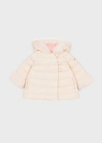 Armani Quilted jacket with faux fur trim