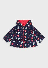 Armani Reversible down jacket with hearts and all-