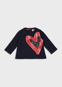 Armani Jersey sweater with maxi-print heart