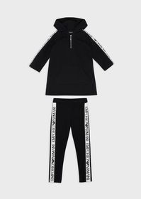 Armani Cotton tracksuit with logo bands