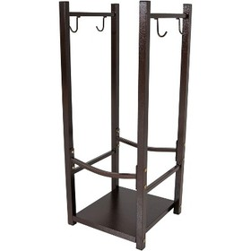 Small Steel Indoor/Outdoor Log Rack with Tool Hold