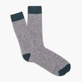 J. Crew Factory Tipped Donegal wool socks
