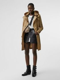 Burberry Detachable Hood ECONYL® Trench Coat in Ho