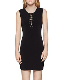 BCBGENERATION - Lace-Up Body-Con Dress