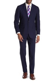 Brooks Brothers Navy Pinstripe Two Button Notch La