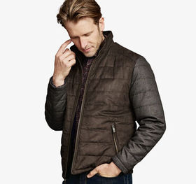 Johnston Murphy Mixed-Media Quilted Jacket