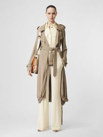 Burberry Jersey Wide-leg Trousers in Off White