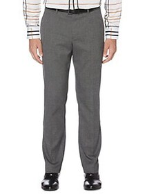 Perry Ellis Textured Slim-Fit Stretch Pants SMOKED