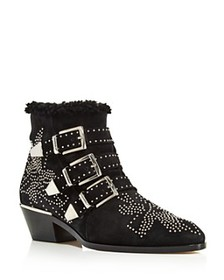 Chloé - Women's Susan Pointed Toe Studded Suede &