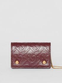 Burberry Monogram Leather Card Case with Detachabl