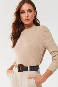 Brushed High-Low Sweater