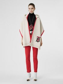 Burberry Monogram Motif Cashmere Hooded Scarf in N