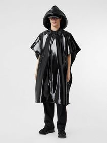 Burberry Vinyl Belted Cape in Black