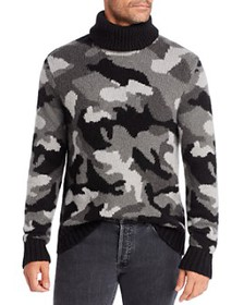 Michael Kors - Camo Intarsia Turtleneck Sweater