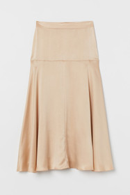 Wide-cut Silk Skirt