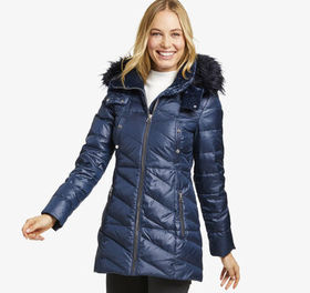 Johnston Murphy Faux Fur-Trimmed Puffer