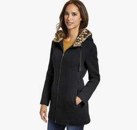 Johnston Murphy Bonded Knit Jacket with Leopard Li