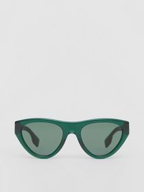 Burberry Triangular Frame Sunglasses in Green