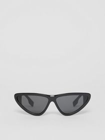 Burberry Triangular Frame Sunglasses in Black