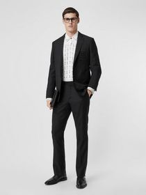 Burberry Slim Fit Monogram Motif Wool Mohair Tailo