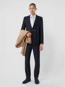Burberry English Fit Triple Stud Wool Mohair Tailo