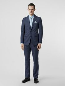 Burberry Classic Fit Wool Tailored Jacket in Steel