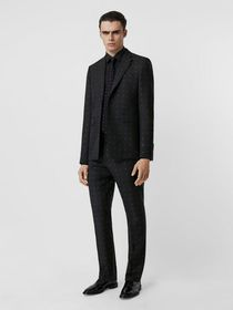 Burberry English Fit Fil Coupé Wool Cotton Tailore