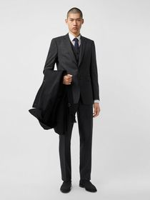 Burberry Classic Fit Check Wool Three-piece Suit i