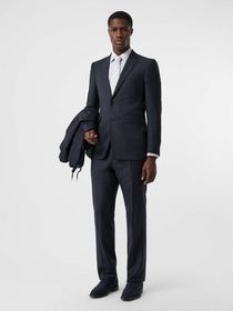 Burberry Classic Fit Windowpane Check Wool Suit in