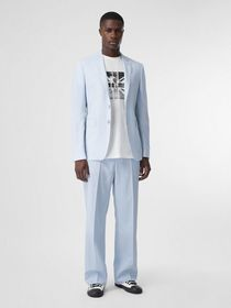 Burberry Slim Fit Press-stud Tumbled Wool Tailored