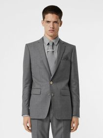 Burberry English Fit Metal Button Wool Tailored Ja