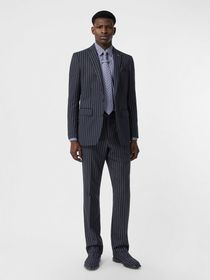 Burberry English Fit Pinstriped Wool Tailored Jack