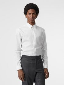 Burberry Modern Fit Cotton Shirt in White