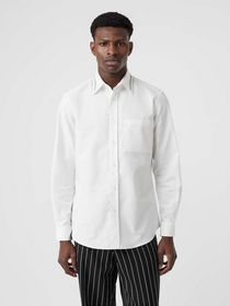 Burberry Classic Fit Embroidered Cotton Poplin Dre