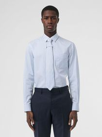 Burberry Striped Cotton Shirt and Tie Twinset in P