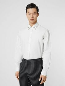 Burberry Classic Fit Stud Detail Cotton Oxford Shi