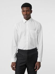 Burberry Classic Fit Monogram Cotton Jacquard Shir