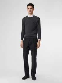 Burberry Monogram Motif Wool Silk Sweater in Dark