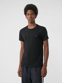 Burberry Cotton Jersey T-shirt in Black