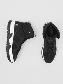 Burberry Mesh and Nubuck Union High-top Sneakers i