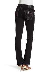 True Religion Billie Mid Rise Slim Straight Jeans