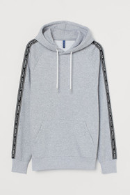 Hooded Shirt with Grosgrain