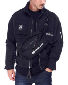 SWITCH nylon jacket with detachable fanny pack