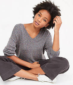 Lou & Grey Flecked V-Neck Sweater