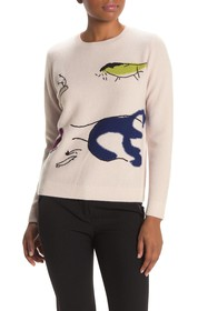 7 Seasons Embroidered Bird Cashmere Sweater